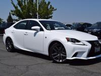 CARFAX One-Owner. Clean CARFAX. White 2016 Lexus IS
