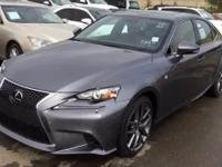 2016 Lexus IS 300 F Sport. AWD. So few miles means it's