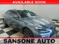 CARFAX One-Owner. Gray 2016 Lexus IS 350 RWD 8-Speed