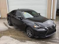 CARFAX One-Owner. Clean CARFAX. Obsidian 2016 Lexus IS