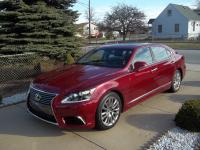2016 LEXUS LS 460 L   LONG WHEEL BASE RED WITH BLACK