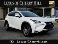 2016 Lexus NX 200t Certified. CARFAX One-Owner. Clean