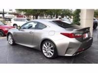 2016 Lexus RC 300 F Sport. Low miles mean barely used.