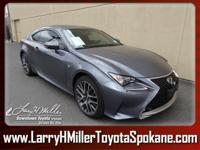 Scores 26 Highway MPG and 19 City MPG! This Lexus RC