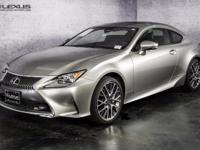 2016 Lexus RC 300. Like new. Gently used. To save you