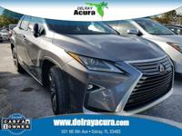 CARFAX One-Owner. Clean CARFAX. Gray 2016 Lexus RX 350