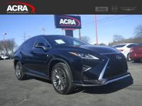 Used 2016 RX 350, 10,657 miles, options include: