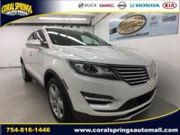 Options:  2016 Lincoln Mkc Premiere|White|Coral Springs