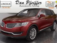 2016 Lincoln MKX Reserve Certified. Clean CARFAX