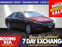 2016 Lincoln MKZ Red Metallic **WOW WOW**, **LOW LOW