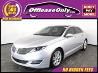Look No Further! Local Trade In!! This 2016 Lincoln MKZ