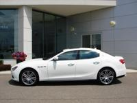 2016 AWD Ghibli S Q4 in Bianco with Rosso interior is