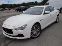 Clean CARFAX. White 2016 Maserati Ghibli S RWD ZF