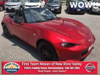 Soul Red Metallic 2016 Mazda Miata Club RWD 6-Speed