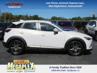 This 2016 Mazda CX-3 Grand Touring in White is well