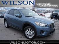 CARFAX One-Owner. Blue 2016 Mazda CX-5 Touring AWD