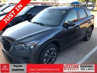 CARFAX One-Owner. Black 2016 Mazda CX-5 Grand Touring