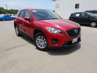 CARFAX One-Owner. Clean CARFAX. Red 2016 Mazda CX-5