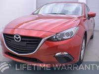 CARFAX 1-Owner. Mazda3 i Sport trim, Soul Red Metallic