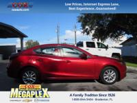 This 2016 Mazda3 i in Soul Red Metallic is well