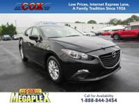 This 2016 Mazda3 i in Jet Black Mica is well equipped