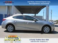 This 2016 Mazda Mazda3 i in Silver is well equipped