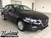 Recent Arrival! 2016 Mazda Mazda3 in Black, AUX