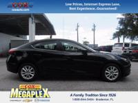 This 2016 Mazda Mazda3 i in Black is well equipped