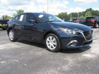 Certified. Blue 2016 Mazda Mazda3 i Sport FWD 6-Speed