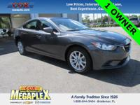This Certified, ONE OWNER, 2016 Mazda6 is well equipped