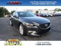 This 2016 Mazda6 i Touring in Meteor Gray Mica is well