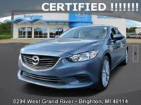 Options:  2016 Mazda Mazda6 I|Blue|New Price! Carfax