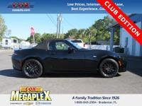This 2016 Mazda Miata Club in Black is well equipped