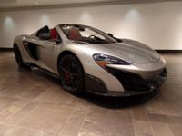 2016 McLaren 675LT Spider. Supernova Silver over Apex