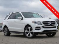New Price! Clean CARFAX. White 2016 Mercedes-Benz GLE