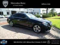 Certified. CARFAX One-Owner. Black **MERCEDES BENZ