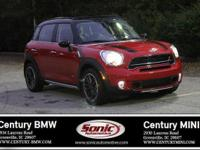 Boasts 30 Highway MPG and 23 City MPG! This MINI Cooper