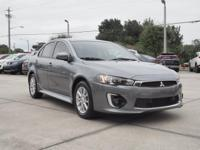 This 2016 Mitsubishi Lancer ES in Gray Pearl features: