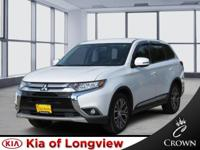 Clean CARFAX. White 2016 Mitsubishi Outlander SEL FWD