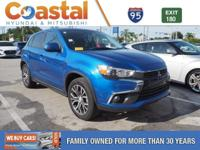 This 2016 Mitsubishi Outlander Sport SE in OCTANE BLUE