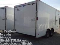 2016 NEW White 8 1/2' x 16' Tandem 3500#. Axles, Extra