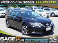 Clean CARFAX. Super Black 2016 Nissan Altima 2.5 SR 4D