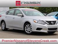 Clean CARFAX. Certified. Silver 2016 Nissan Altima 2.5