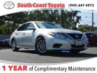CARFAX One-Owner. Brilliant Silver 2016 Nissan Altima