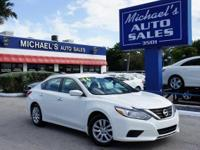 Options:  2016 Nissan Altima 2.5 S|White|Cvt With