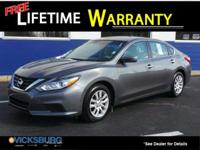 Options:  2016 Nissan Altima 2.5 S|Gray|Cvt With