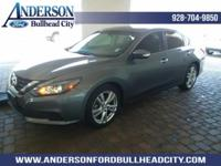 Gun Metallic 2016 Nissan Altima 3.5 SL FWD CVT with