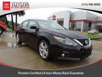 CARFAX One-Owner. Black 2016 Nissan Altima 3.5 SL FWD