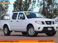 2016 Nissan Frontier Glacier White  CARFAX One-Owner.