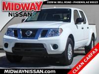 New Price!2016 Nissan Frontier SV Glacier White 4.0L V6